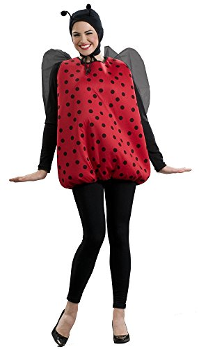 Women's Lady Bug Costume, Black/Red, One Size