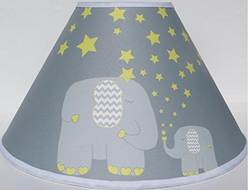 Yellow Elephant Lamp Shades / Elephant Nursery Decor with St