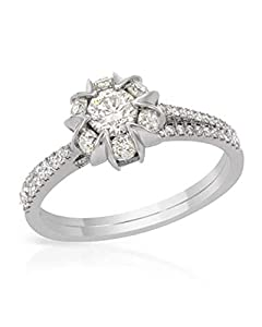 1.07ctw. Round Diamonds 14k White Gold Engagement Ring