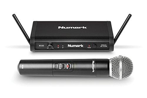 Numark WS100   24-Bit UHF Digital Wireless Microphone System with 200-ft Range (Wireless Mic, Receiver, Case & 1/4