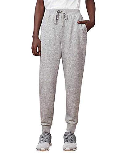 Fila Men's French Terry Jogger Active Sweatpants Pants Gray Medium (Mens Fila Sport Fleece 2-0 Jogger Pants)