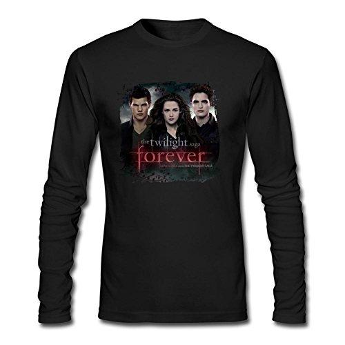 IIOPLO Men's Twilight Forever Long Sleeve T-shirt Black - Rosalie Tee