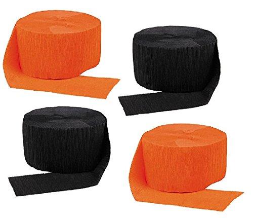 orange and black streamers - 7
