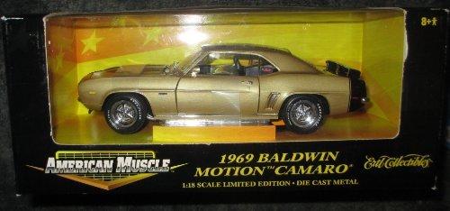 Motion Baldwin Camaro 1969 (#32473 Ertl American Muscle 1969 Baldwin Motion Camaro,Gold 1/18 Scale Diecast)