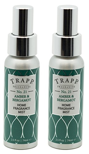 Trapp Home Fragrance Mist, No. 21 Amber & Bergamot, 2.5-Ounce (2-Pack)