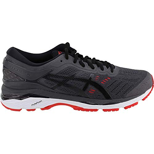 ASICS Gel-Kayano 24 Men's Running Shoe, Dark Grey/Black/Fiery Red, 6.5 M US by ASICS (Image #1)