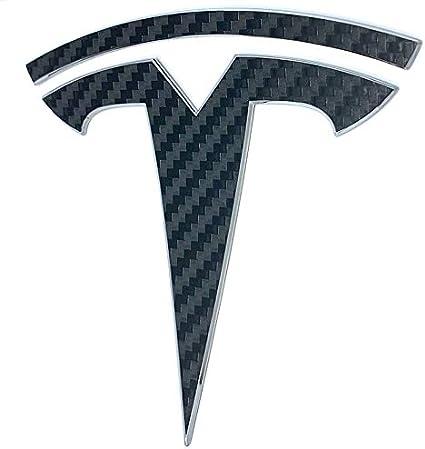 Gloss Red Custom Cut Graphics Tesla Model 3 Logo Decal Wrap