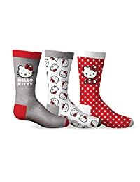 Girl's Hello Kitty 3-Pack Crew Socks