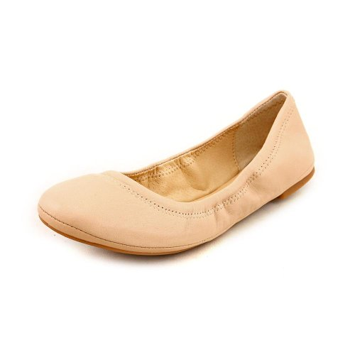 Lucky Brand Emmie - Bailarinas de cuero para mujer Luxe Leoprd Nude Leather