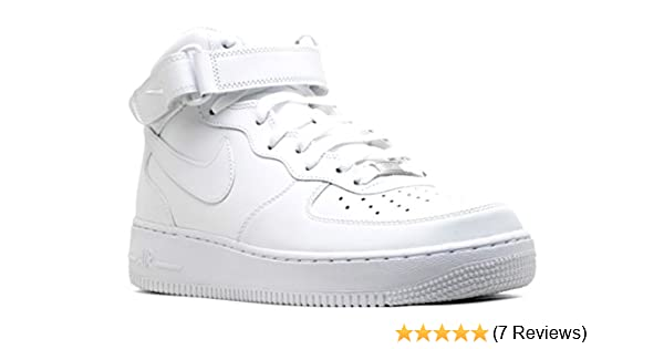 release date: e8ea3 ef849 Amazon.com   Nike Air Force 1 Mid 07 White White Mens Fashion Sneakers  315123-111   Fashion Sneakers