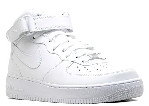 Nike Air Force 1 Mid 07 White/White Mens Fashion Sneakers 315123-111 (11 M) - Mid 07 Mens Shoes