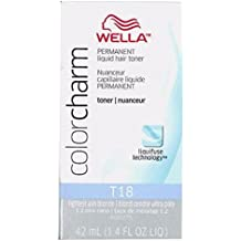Wella - Color Charm Liquid Hair Toner T18 Lightest Ash Blonde 1.42 oz./42 ml.