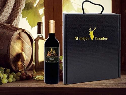 Caja Regalo Vino - Pack de 2 Botellas de Crianza + Regalo Al Mejor Cazador + Kit con Gorra y Mochila de Camuflaje para Caza - D.Origen Olite Navarra añada del 2014 -