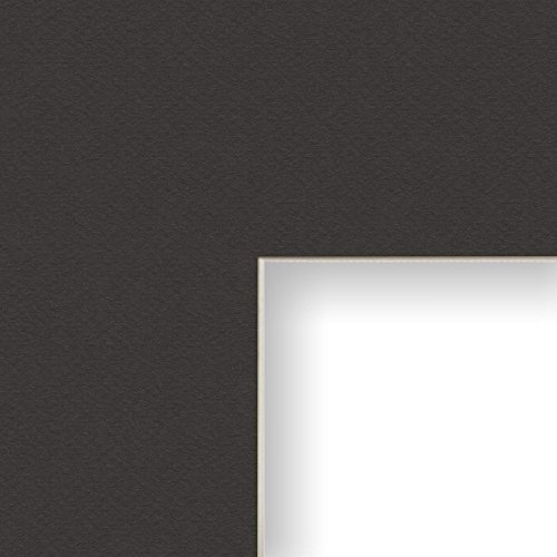 Craig Frames B571 14x20-Inch Mat, Single Opening for 10x15-Inch Image, Pitch with Cream - Black Pitch Picture