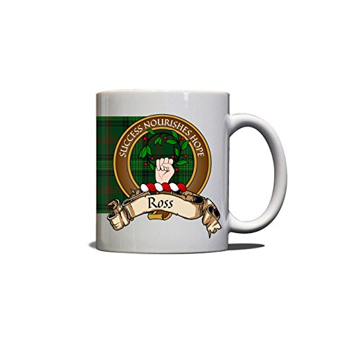 Ross Scottish Clan Crest Motto Hunting Tartan Mug