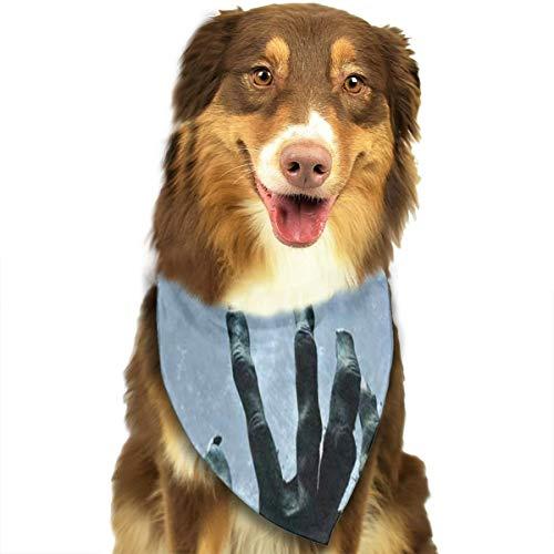 Dog Bandana Halloween Zombie Hand Grave Full Moon Dog Scarf Special Cat Neckerchief]()
