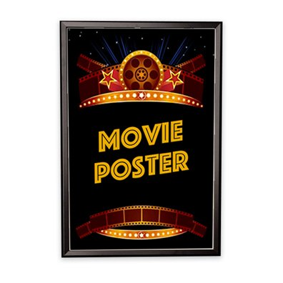 Movie Poster Frame - 27'x40' Black with Square Corners