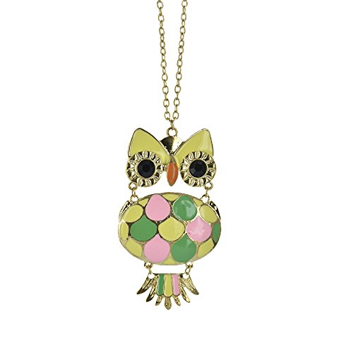 [Twinkle Enamel Pendant Necklace - Opera Owl (Multicolor Dark)] (Homemade Queen Of Hearts Costume Ideas)