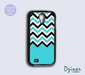 Galaxy S3 Case - Turquoise Black Chevron Cover