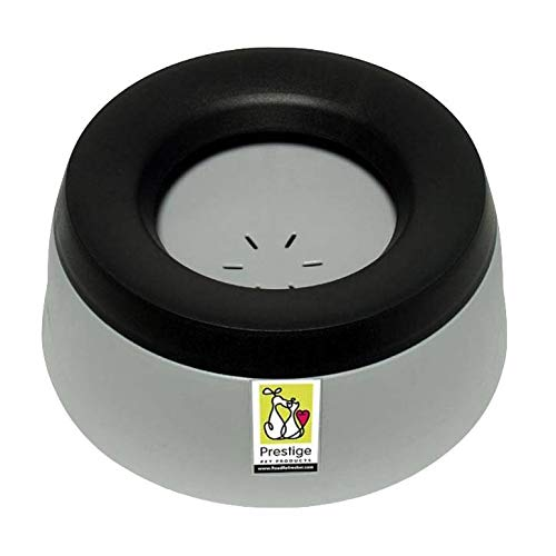 Road Refresher Pet Water Bowl | Home & Travel | eliminates Water Slobber for Even The Messiest Jowls, No More Wet Messy Floors | Ideal for Travel, Boat, RV, No More Spilling | Small Pewter Grey ()