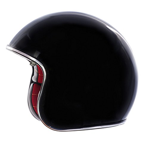 Fulmer, V2B00523, Adult Open Face Motorcycle Helmet V2B Boulevard w/iShade DOT Approved - Gloss Black, M