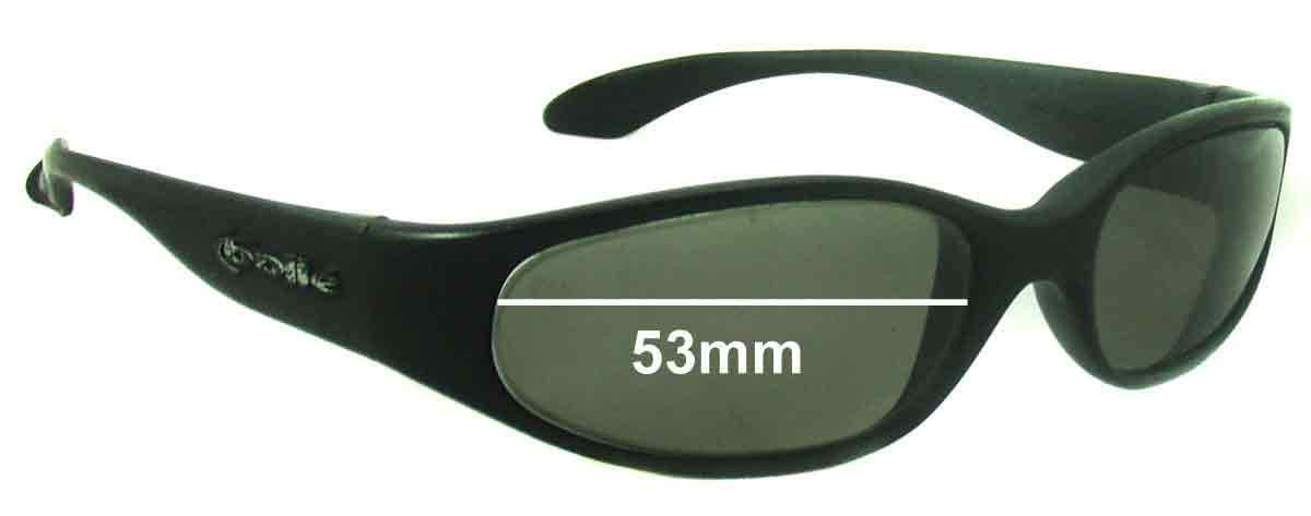 SFX Replacement Sunglass Lenses fits Bolle Orvet 53mm Wide Oval Shaped