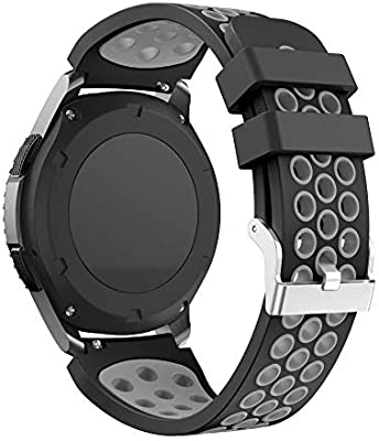 Yayuu Gear S3 Frontier/Classic Correa de Reloj, Reemplazo de Banda de Silicona Suave Deportiva Pulsera de Repuesto para Samsung Galaxy Watch ...