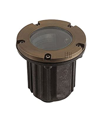 LFU Brass Constructed Well/in-Ground Light Available. Low Voltage. Antique Bronze Finished.