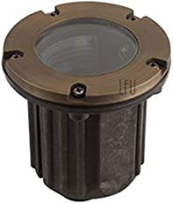 LFU -  Brass Constructed Vancouver Well / In-ground Light. Low Voltage. Antique Bronze Finished.