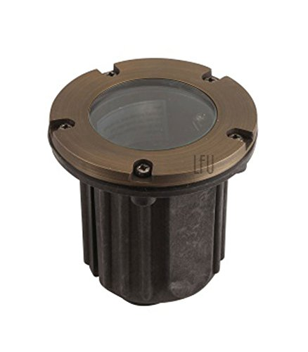 (LFU -  Brass Constructed Vancouver Well / In-ground Light. Low Voltage. Antique Bronze Finished.)