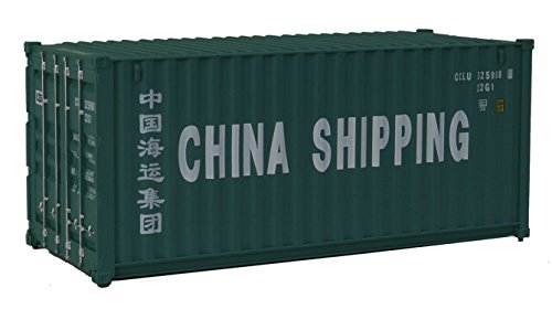 Walthers SceneMaster HO Scale Model of China Shipping (Green, White; Billboard Lettering) 20' Corrugated Container