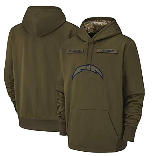Los Angeles Chargers Men's Apparel Salute to Service Sideline Therma Performance Pullover Hoodie Green ()