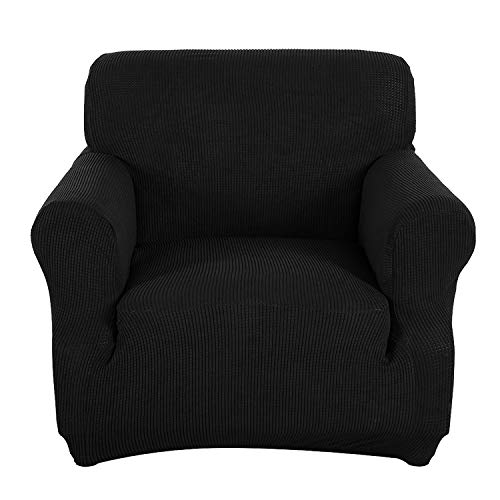 Obstal Stretch Spandex Armchair Couch Slipcover Sofa Covers for Living Room, One Piece Anti-Slip Chair Slipcover with Elastic Bottom, Chair Coverings Furniture Protector for Dogs, Cats, Pets, and Kids