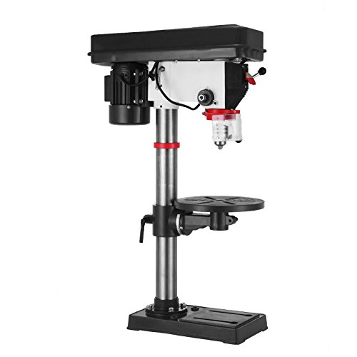 OrangeA 16 Speed Bench-Top Drill Press 16mm Max Drilling Diameter Heavy-duty Bench Mount Drill Press 16A 450W Floor Standing Drill Press 16 mm Drilling Diameter