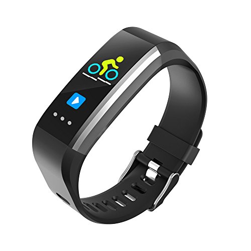 Glumes Bluetooth Smart Watch with heart Blood Pressure Test Heart Rate Monitor Touchscreen Wrist Watch Unlocked Waterproof Smart Watch for Android Samsung IOS Iphone Plus Men Women (Black) by Glumes (Image #1)