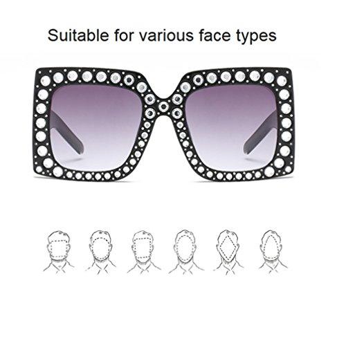 pour Femmes Soleil Lunettes à Personnalisée Monture de Soleil ZYXCC Purple de Gray YANJING Monture Femmes Lunettes Large à pour vYRxR8