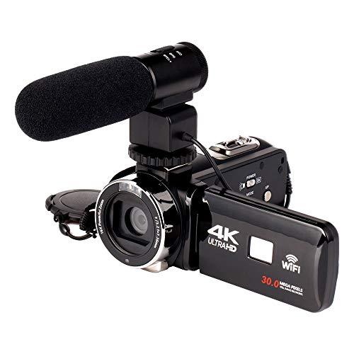 TOPmountain Cámara Digital con Cámara De Video 1080P HD, 16 Veces Zoom Cámara Táctil Capacitiva Táctil Dv Cámara...