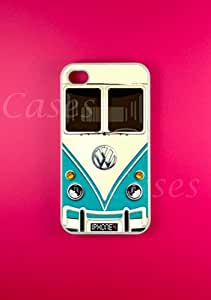 Iphone 4 Case, VW Minibus Teal iphone cases, iPhone 4s Cover, Cool Pretty Cas...