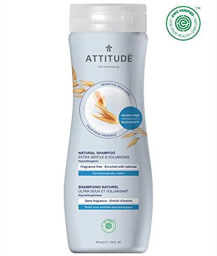 ATTITUDE Sensitive Skin, Hypoallergenic Shampoo, Fragrance Free, 16 fl. oz.