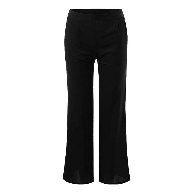 Pantalones Casuales para Mujer De Cintura Alta CeñIdos Cremallera Cintura Alta Pantalones Mujer Tallas Grandes Pantalones Acampanados para Mujer ...