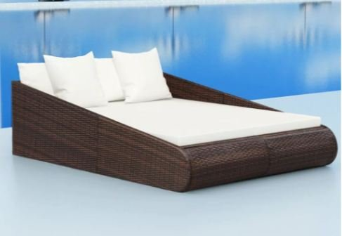 ComfyLeads Daybed Made of weather-resistant and waterproof PE rattan
