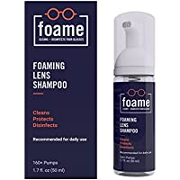foame - The Eyeglass Cleaner. Cleans and Disinfects your Eyeglasses and Sunglasses. For all types of Eyewear, Lenses and Frames