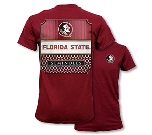 Southern Couture SC Collegiate Preppy Florida State Womens Classic Fit T-Shirt - Garnet, Medium