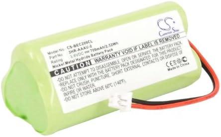 CS Teléfono inalámbrico batería, Ni-MH 3,6 V 700 mAh/2,52 wh Compatible con [Bang y Olufsen] Beocom 2, equivalente a [Bang y Olufsen] 3HR - AAAU-2