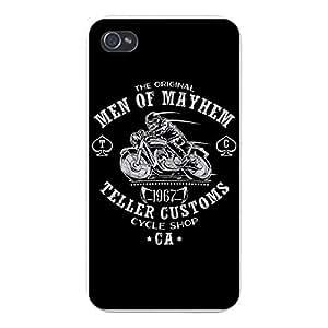 """Apple iPhone Custom Case 4 4S White Plastic Snap On - """"Teller Customs"""" TV Show Parody"""
