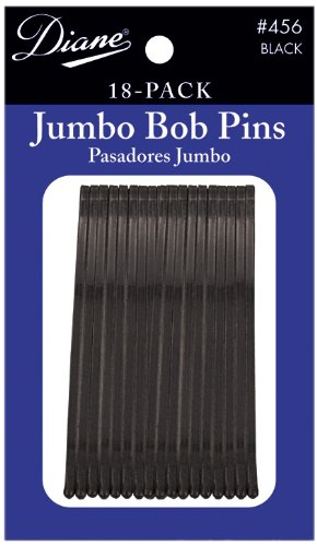 Fromm International Diane Jumbo Bob Pins, Black, 18/Card (Pack of 12) D456