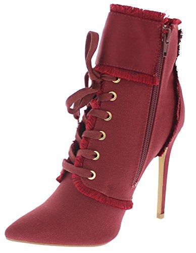 Ankle Wine Bootie Stiletto Republic Toe Shoe Pointy Aguila wqBSU1