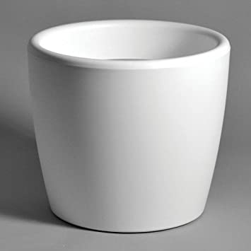 Pflanzkübel Kunststoff weiß rund Pflanzkübel Ø 45 cm Höhe 39,5 cm ...