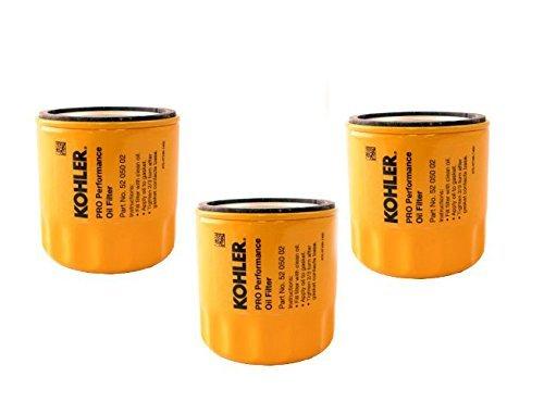 Filter Oil Kohler (KOHLER 52 050 02-S Engine Oil Filter Extra Capacity For CH11 - CH15, CV11 - CV22, M18 - M20, MV16 - MV20 And K582 (Pack of 3))