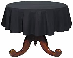 Now Designs 60-Inch Round Spectrum Tablecloth, Black